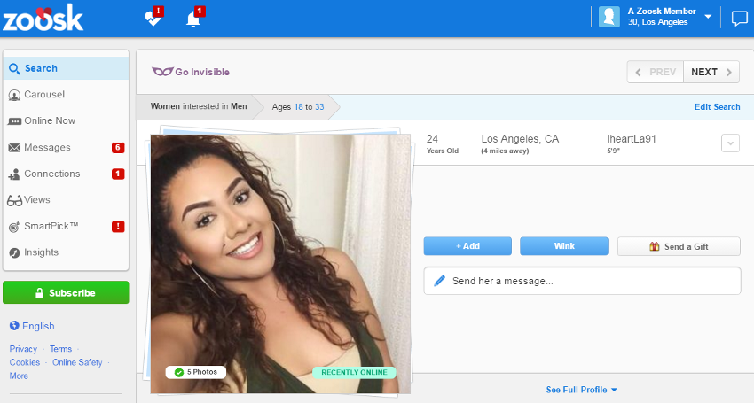 Zoosk dating site complaints